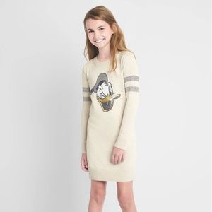 Gap girl off off white Donal Duck sweater dress